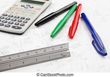 architectuur, bouwschets