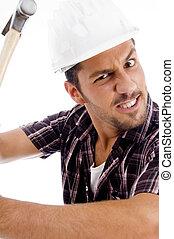 architekt, hammer, ende