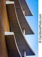 architektonisch, wilmington, stadtzentrum, abstrakt, delaware.