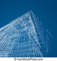 architektur, abstrakt