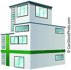 architektur, design, für, wohnanlage