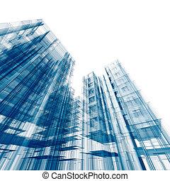 architektur, freigestellt