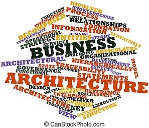architektur, geschaeftswelt