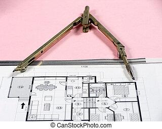 architektur, planung