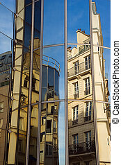 architektur, reflexionen