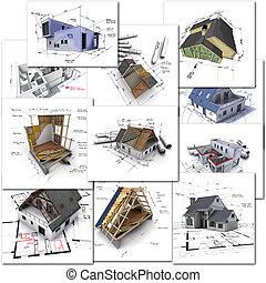 architektur, sammlung