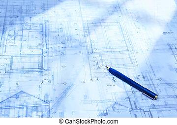 architektur, schreibarbeit