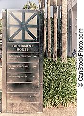 architektur, und, der, signal, von, parlament, haus