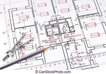 architektur, zeichnung