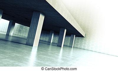 architektur, zement