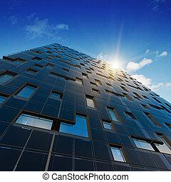 architektura, abstraktní, úřad