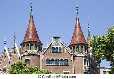 architektura, barcelona, hiszpania