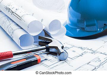 architektura, blueprints