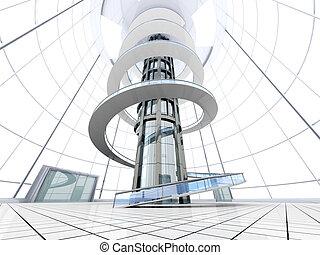 architektura, futurystyczny