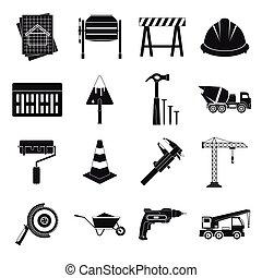 architektura, ikona, dát, jednoduchý, móda