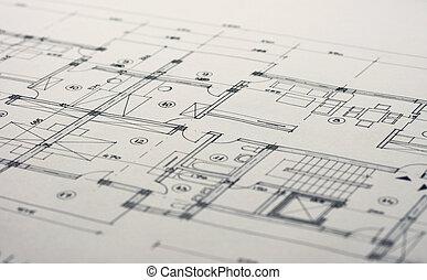 architektura, nakreslit plán