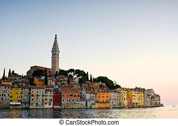architektura, o, rovinj, croatia., istria, touristic,...