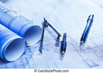 architektura, papírování