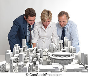 architektura, plán, dozor