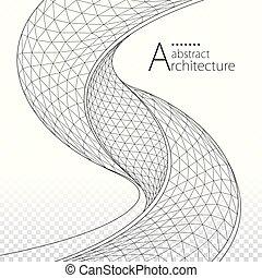 architettonico, progetto costruzione, fondo, astratto