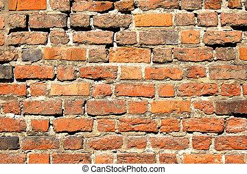 architettonico, vendemmia, vecchio, fondo, design., astratto, mattoni, wall., arancia