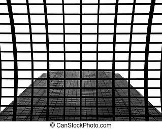 architettura, astratto, di, grattacielo