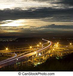 architettura, di, autostrada, constructio