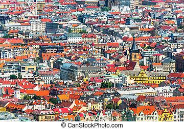 architettura, di, praga, repubblica ceca
