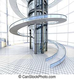 architettura, futuristico