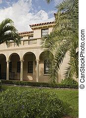 architettura, in, spiaggia palma occidentale