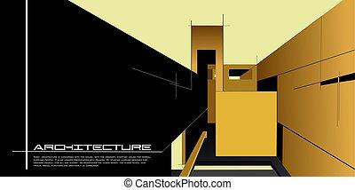 architettura, mockup, fondo