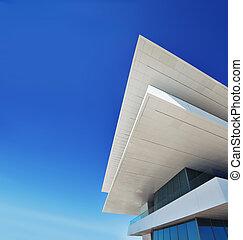 architettura moderna, costruzione, con, spazio copia