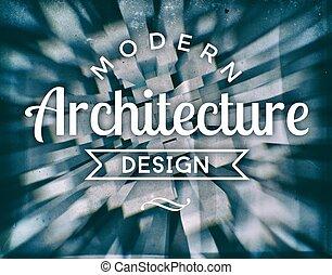 architettura moderna, disegno, vendemmia, manifesto