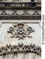 architextural details of King Koti palace of Nzam kings of Hyderabad,India