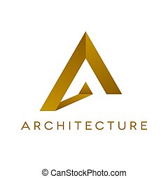 Architrcture logo design, isolated vector illustration