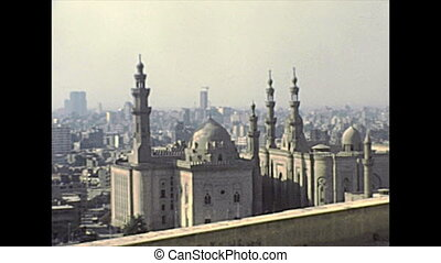 archival Mosque of Muhammad Ali - Aerial view from the...