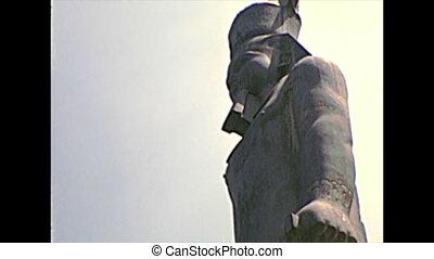 archival replica statue of Ramses II