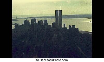 archival Twin Towers skyline