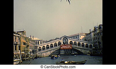 Archival Venice Rialto Bridge by sea - Rialto Bridge of ...
