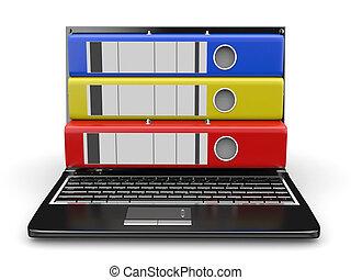 archive., ラップトップ, ∥で∥, フォルダー, instead, の, ∥, スクリーン