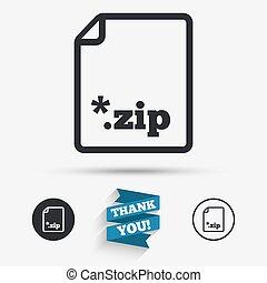 Archive file icon. Download ZIP button.