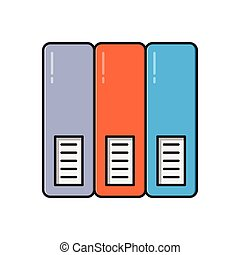 archive  flat color icon