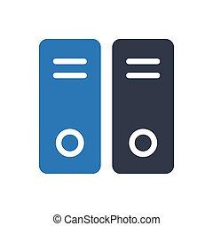 archive glyph color icon