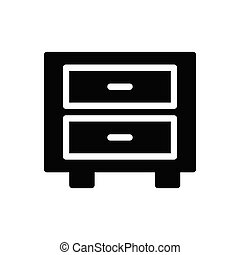 archive glyph flat icon