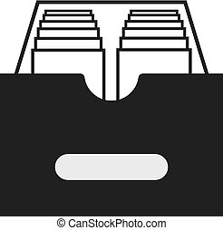 Archive icon isolated on white background. Vector illustration for your design.