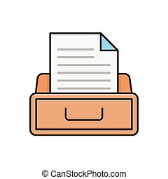 archive line flat icon