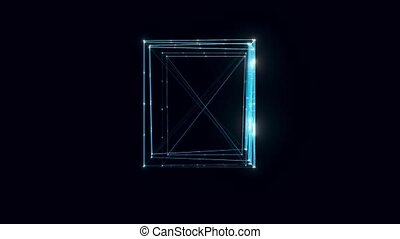 Archive or archivist hologram Rotating. High quality 4k footage