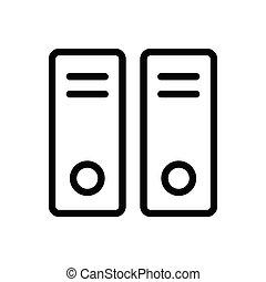 archive thin line icon