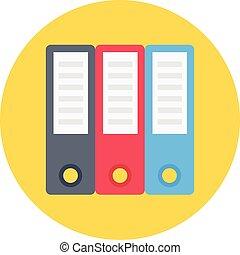archive vector colour flat icon