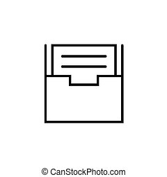 Archive vector icon, document drawer symbol. Modern, simple flat vector illustration for web site or mobile app